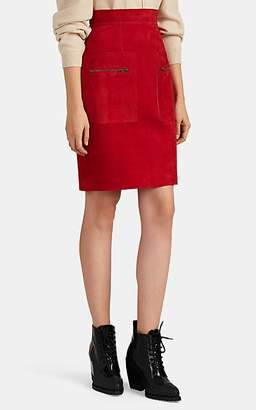 151700b61b09 Martin Grant Women's Suede Knee-Length Skirt - Red