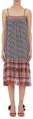 Ulla Johnson Women's Imane Midi-Dress-NAVY $448 thestylecure.com