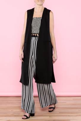 HYFVE Long Black Vest $29.99 thestylecure.com