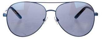 Matthew Williamson x Linda Farrow Aviator Gradient Sunglasses