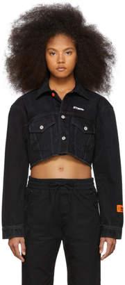 Heron Preston Black Denim Prohibited New Crop Jacket