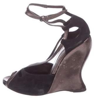 Bottega Veneta Leather Peep-Toe Sandals