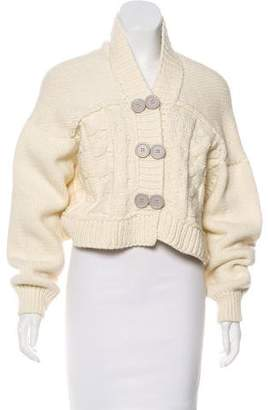 Chloé Wool Button-Accented Cardigan