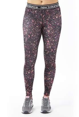 New Balance Womens Accelerate Printed Running Tight Leggings Black/Multi