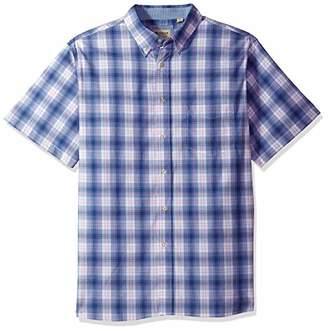 Haggar Men's Short Sleeve Poplin Woven Shirt