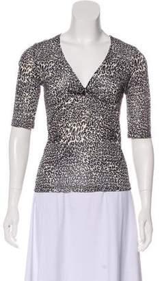 Les Copains Short Sleeve Knit Top
