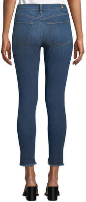 7 For All Mankind Gwenevere High-Rise Raw-Hem Jeans