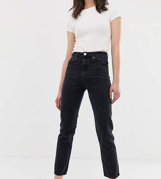 Asos Tall DESIGN Tall Recycled Florence authentic straight leg jeans in washed black