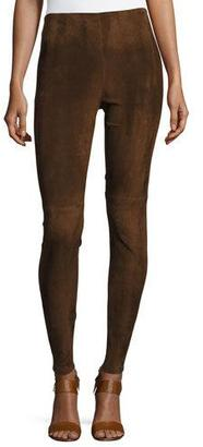 Ralph Lauren Collection Eleanora Suede Leggings, Brown $1,990 thestylecure.com