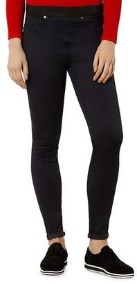 Karen Millen Satin Denim Leggings