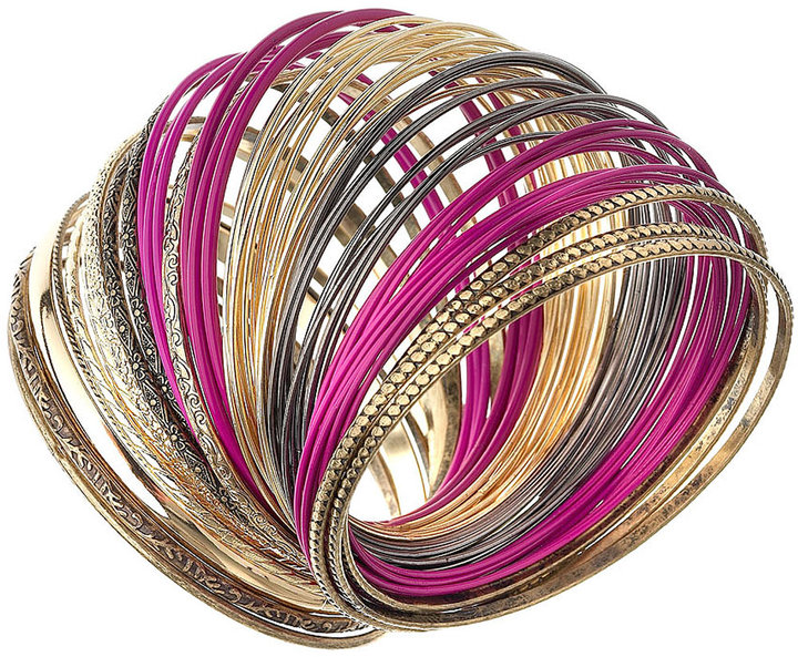 Thin Multi Bangle Set