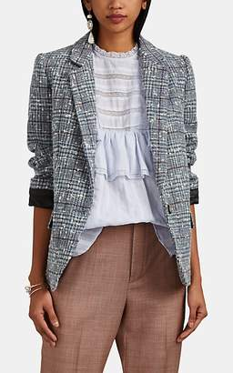 Etoile Isabel Marant Women's Kice Plaid Wool Bouclé Blazer - Light Gray