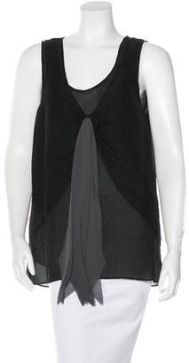 Vera Wang Silk-Blend Sleeveless Top $75 thestylecure.com