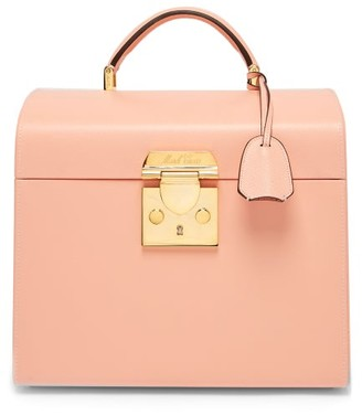 Mark Cross Sara Leather Beauty Case - Womens - Light Pink