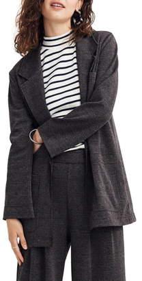 Madewell Glen Plaid Oversize Knit Blazer