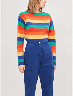 Benetton Crewneck striped wool jumper