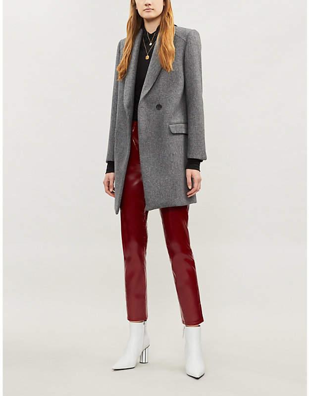 Marco herringbone wool-blend coat