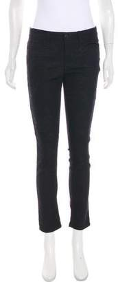 Joe's Jeans Floral Jacquard Mid-Rise Skinny Jeans