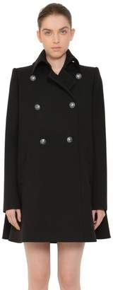 Alexander McQueen Military Wool Peacoat W/ Cape Back