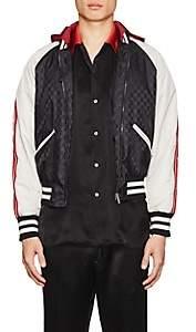 Gucci Men's GG Supreme Colorblocked Padded Bomber Jacket - Black