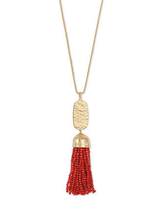 Kendra Scott Monroe Long Pendant Necklace in Gold