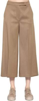 Max Mara Cropped Wool Denim Pants