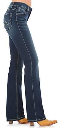 Wrangler Women's Q- Dark Wash Ultimate Riding Jeans Boot Cut Indigo 0W x 34L