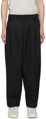 Comme des Garcons Black Wool Gabardine Trousers