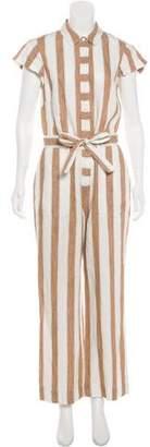 Frame Linen Stripe Jumpsuit