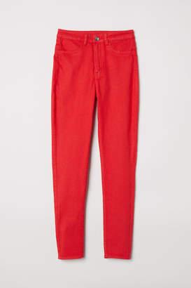 H&M Petite Fit Super Skinny Jeans - Red