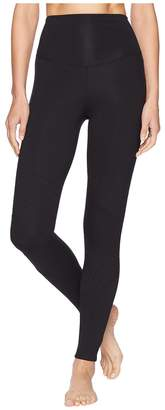 Yummie by Heather Thomson Compact Cotton Quilted Moto Leggings Women's Casual Pants
