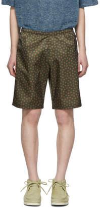 Needles Green Warm Up Shorts