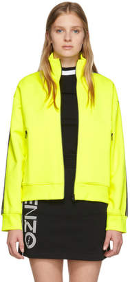 Kenzo Yellow Logo Zip-Up Sweater