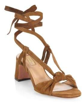 Aquazzura Delicieuse Suede Sandals