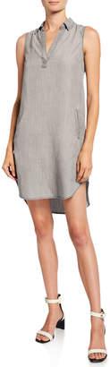 Dex Bros Clothing Co Open-Collar Sleeveless High-Low Tunic Dress