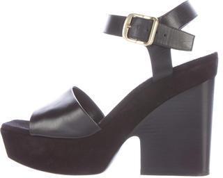CelineCéline Suede Platform Sandals