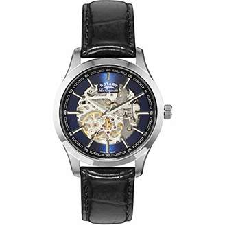 Rotary ' Jura' Automatic Stainless Steel and Leather Casual Watch