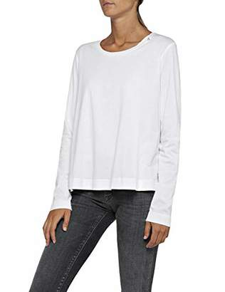 Replay Women's W3846 .000.22536p Long Sleeve Top, (Optical White 1), Small