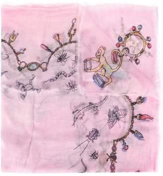 Faliero Sarti print frayed hem scarf
