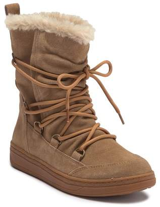 Earth Zodiac Water Resistant Suede Faux Fur Lined Boot