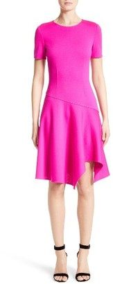 Women's St. John Collection Milano Knit Asymmetrical Dress $895 thestylecure.com