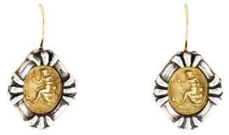 Two-Tone Drop Earrings