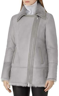 REISS Nicole Shearling Jacket $1,685 thestylecure.com