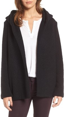 Women's James Perse Hooded Boucle Open Jacket $395 thestylecure.com