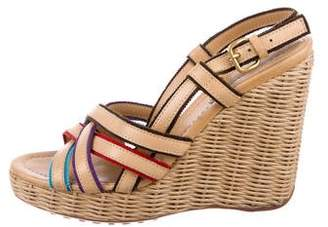 Car Shoe Leather Wedge Sandals