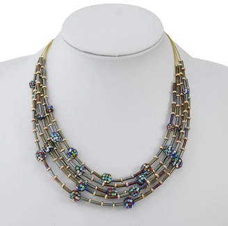 Liz Claiborne Womens Multi Color Illusion Necklace