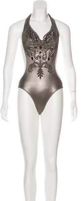 Melissa Odabash Embellished One-Piece Swimsuit w/ Tags