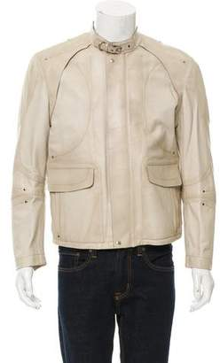 Gucci Leather Cafe Racer Jacket w/ Tags