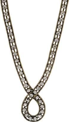Logo By Lori Goldstein LOGO Links Rhinestone Chain Loop Necklace