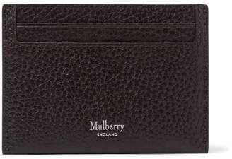 Mulberry Full-Grain Leather Cardholder - Men - Dark brown